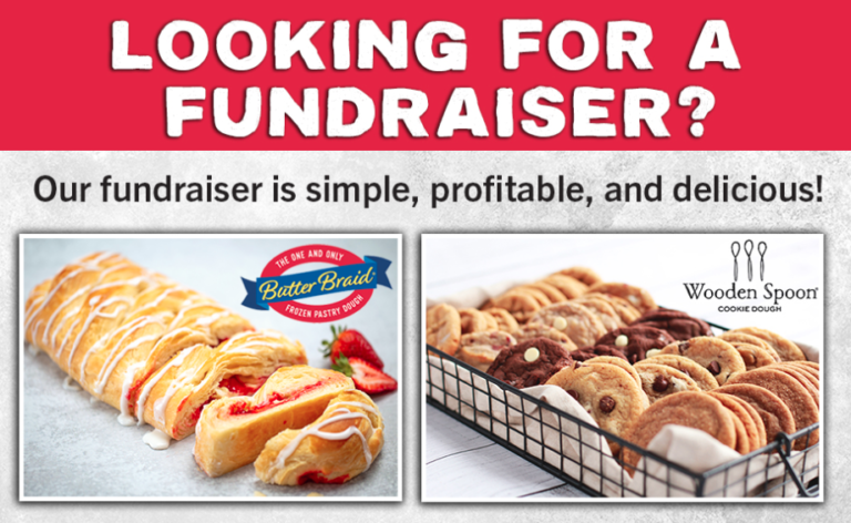 Combo fundraiser Butter Braid Pastry and Wooden Spoon promotion
